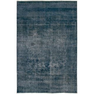 ECARPETGALLERY Hand-knotted Color Transition Navy Blue Wool Rug - 6'8 x 10'2
