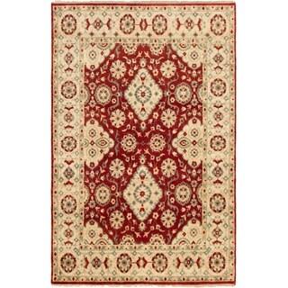 ECARPETGALLERY Hand-knotted Serapi Heritage Dark Red Wool Rug - 5'10 x 8'10