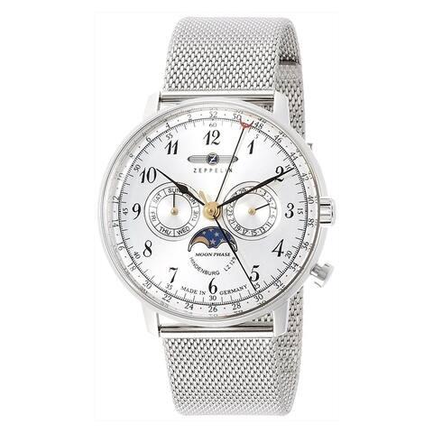 Zeppelin LZ-129 Silver Dial Chronograph Quartz Men's Watch 7036M-1