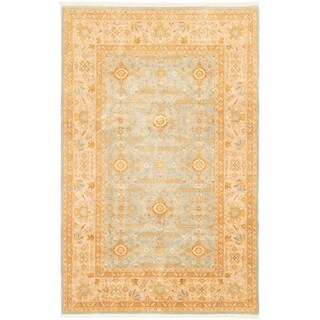 ECARPETGALLERY Hand-knotted Peshawar Finest Light Blue  Wool Rug - 5'10 x 9'2