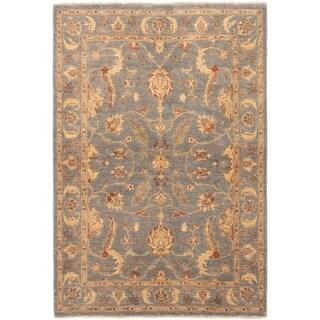 ECARPETGALLERY Hand-knotted Peshawar Finest Light Denim Blue Wool Rug - 4'9 x 7'0