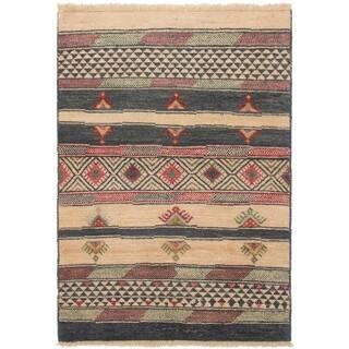 ECARPETGALLERY Hand-knotted Shalimar Cream Wool Rug - 4'0 x 5'10