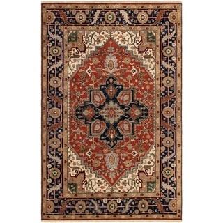 ECARPETGALLERY Hand-knotted Serapi Heritage Dark Copper Wool Rug - 5'10 x 8'10