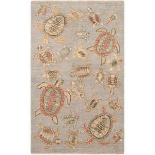 ECARPETGALLERY Hand-knotted Peshawar Finest Light Blue  Wool Rug - 5'1 x 8'3