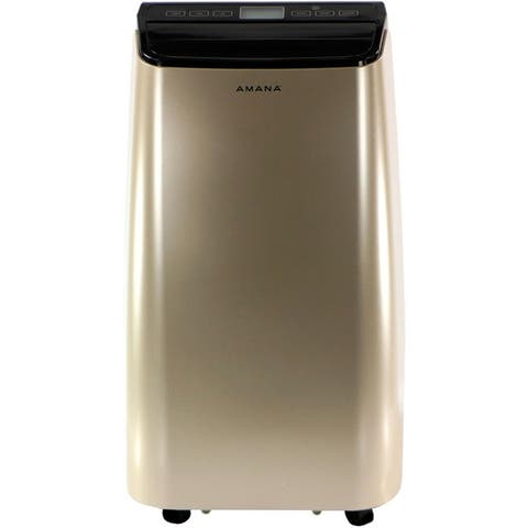 Amana Portable Air Conditioner with Remote Control in Gold/Black for Rooms up to 250-Sq. Ft.