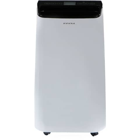 Amana Portable Air Conditioner with Remote Control in White/Black for rooms up to 350-Sq. Ft.