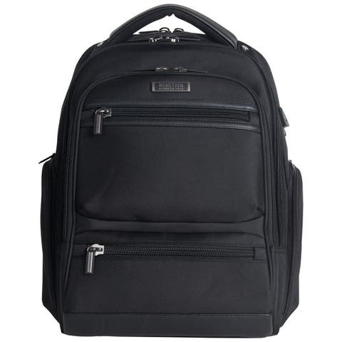 Kenneth Cole Reaction TSA Friendly Dual Compartment Heathered Polyester Anti-Theft RFID 17-inch Laptop Business Backpack