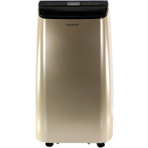 Amana Portable Air Conditioner with Remote Control in Gold/Black for Rooms up to 350 -Sq. Ft.