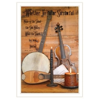 """Music"" by Billy Jacobs, Ready to Hang Framed Print, White Frame"