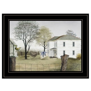 """""""Spring Cleaning"""" by Billy Jacobs, Ready to Hang Framed Print, Black Frame"""