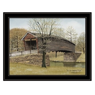 """""""The Old Humpback Bridge"""" by Billy Jacobs, Ready to Hang Framed Print, Black Frame"""