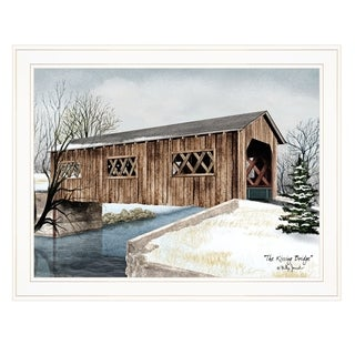 """The Kissing Bridge"" by Billy Jacobs, Ready to Hang Framed Print, White Frame"