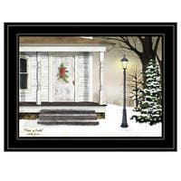 """""""Peace on Earth"""" by Billy Jacobs, Ready to Hang Framed Print, Black Frame"""