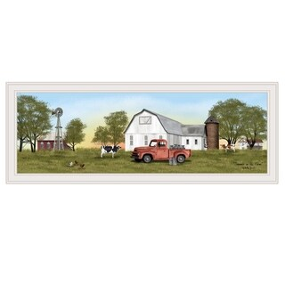 """Summer on the Farm"" by Billy Jacobs, Ready to Hang Framed Print, White Frame"
