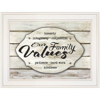 """Our Family Values"" by Cindy Jacobs, Ready to Hang Framed Print, White Frame"