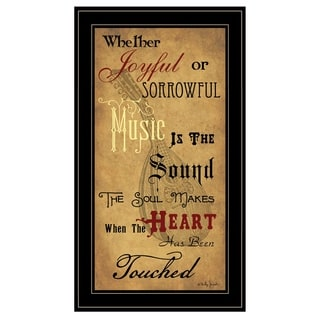 """""""Sound of the Soul"""" by Billy Jacobs, Ready to Hang Framed Print, Black Frame"""