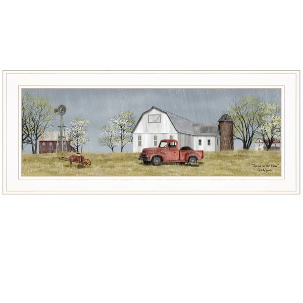 """""""Spring On The Farm"""" by Billy Jacobs, Ready to Hang Framed Print, White Frame"""