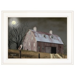 """Midnight Moon"" by Billy Jacobs, Ready to Hang Framed Print, White Frame"