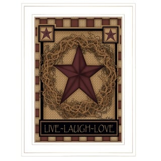 """""""Live-Laugh-Love"""" by Carrie Knoff, Ready to Hang Framed Print, White Frame"""