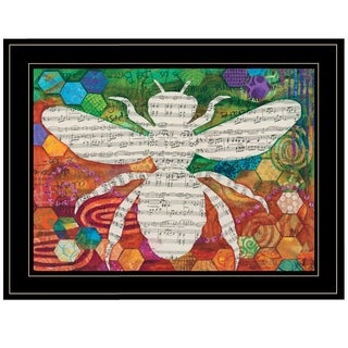 """""""Bee Silhouette"""" by Lisa Morales, Ready to Hang Framed Print, Black Frame"""