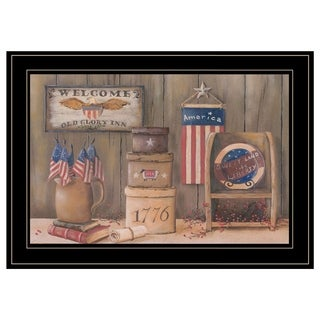 """""""Sweet Land of Liberty"""" by Pam Britton, Ready to Hang Framed Print, Black Frame"""