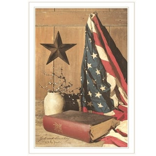"""""""God and Country"""" by Billy Jacobs, Ready to Hang Framed Print, White Frame"""