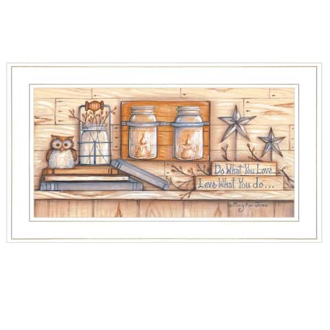 """""""Do What You Love"""" by Mary June, Ready to Hang Framed Print, White Frame"""