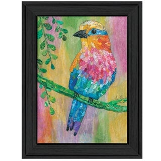 """""""Lilac Breasted Roller"""" by Lisa Morales, Ready to Hang Framed Print, Black Frame"""