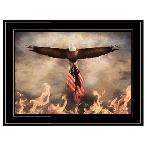 """Blaze of Glory"" by Lori Deiter, Ready to Hang Framed Print, Black Frame"