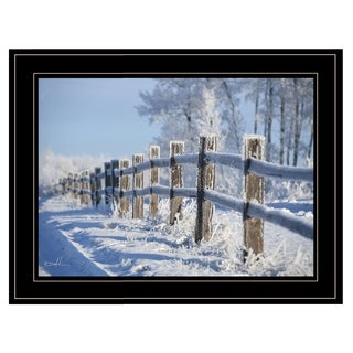 """""""Frost Fence"""" by Dale MacMillan, Ready to Hang Framed Print, Black Frame"""