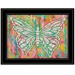 """""""Butterfly Silhouette"""" by Lisa Morales, Ready to Hang Framed Print, Black Frame"""