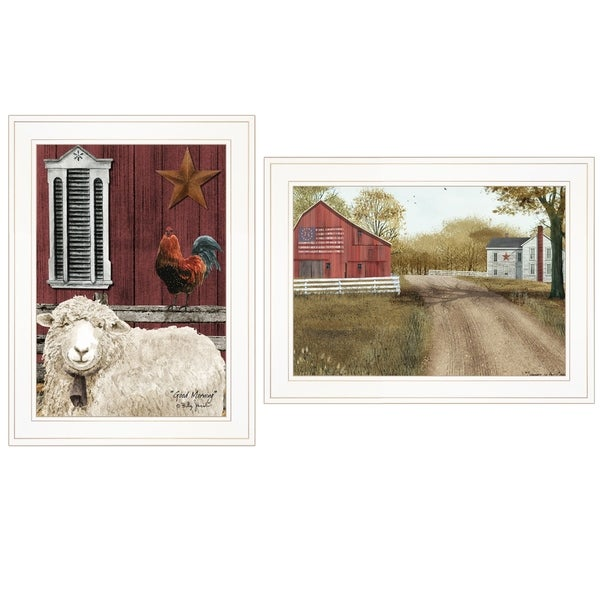"""""""Good Morning"""" 2-Piece Vignette by Billy Jacobs, White Frame"""