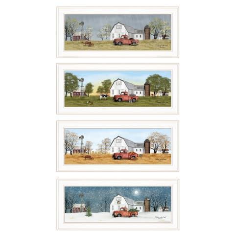 """""""Billy Jacobs Four Seasons Collection V"""" 4-Piece Vignette, White Frame"""