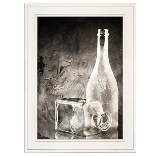 """Moody Gray Glassware"" Still Life by Bluebird Barn, Ready to Hang Framed Print, White Frame"