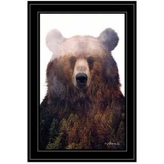 """""""King of the Forest"""" by Andreas Lie, Ready to Hang Framed Print, Black Frame"""