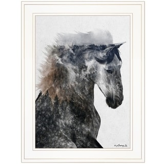 """""""Proud Stallion"""" by Andreas Lie, Ready to Hang Framed Print, White Frame"""