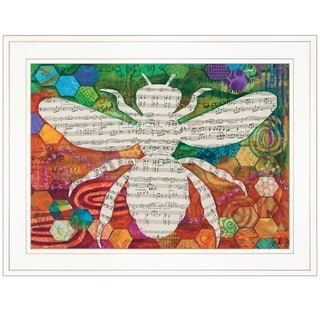 """""""Bee Silhouette"""" by Lisa Morales, Ready to Hang Framed Print, White Frame"""