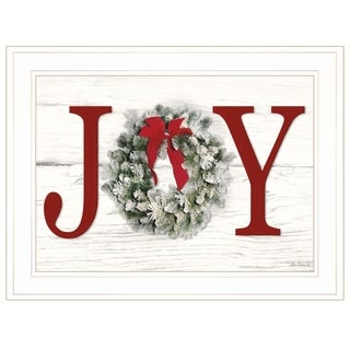 """Christmas Joy"" by Lori Deiter, Ready to Hang Framed Print, White Frame"