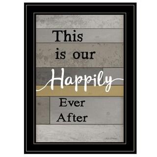 """Happily Ever After"" by Karen Tribett, Ready to Hang Framed Print, Black Frame"