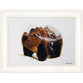 """""""Bear in the Mountains"""" by Andreas Lie, Ready to Hang Framed Print, White Frame"""