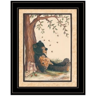 """""""Nap Time"""" by Mary June, Ready to Hang Framed Print, Black Frame"""