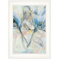 """Floral Translucide"" by Sheila Elsea, Ready to Hang Framed Print, White Frame"