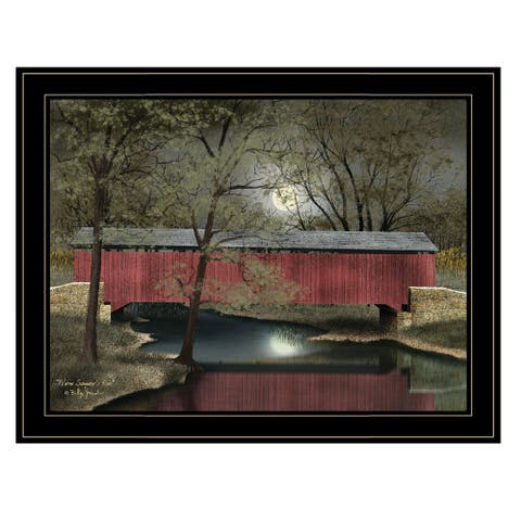 """Warm Summer's Eve"" by Billy Jacobs, Ready to Hang Framed Print, Black Frame"