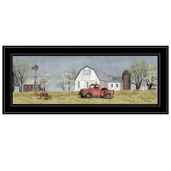 """""""Spring On The Farm"""" by Billy Jacobs, Ready to Hang Framed Print, Black Frame"""