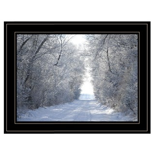 """Snow Covered I"" by Dale MacMillan, Ready to Hang Framed Print, Black Frame"