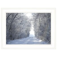 """Snow Covered I"" by Dale MacMillan, Ready to Hang Framed Print, White Frame"