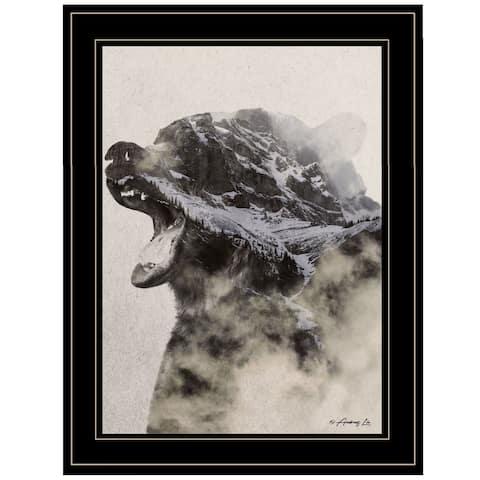 """Bear Fog"" by Andreas Lie, Ready to Hang Framed Print, Black Frame"