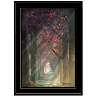 """Path of Happiness"" by Martin Podt, Ready to Hang Framed Print, Black Frame"