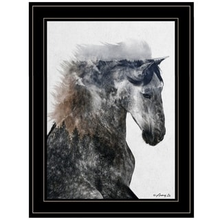 """Proud Stallion"" by Andreas Lie, Ready to Hang Framed Print, Black Frame"