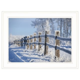 """Frost Fence"" by Dale MacMillan, Ready to Hang Framed Print, White Frame"